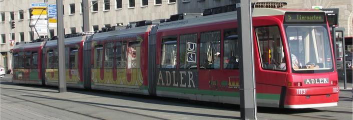 Foto: Strassenbahn in Nürnberg