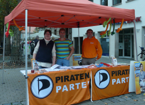 Infostand der Piraten Erlangen am 11.10.2014