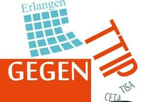Die Piratenpartei Erlangen ist Mitglied im überparteilichen Bündnis Erlangen gegen TTIP und stattdessen für Transparenz, Fairness und Vernunft in globalen Handelsabkommen.