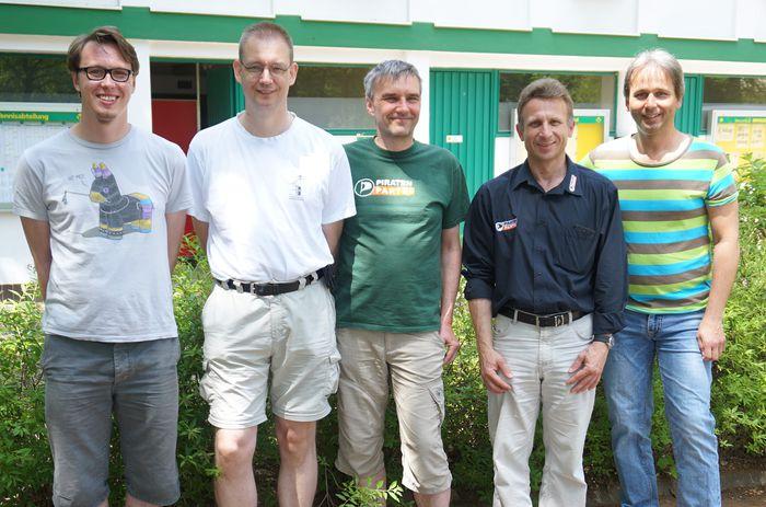 Von links nach rechts: Dirk Kaufmann, Wolfgang Wiese, Jürgen Purzner, Detlef Rausch, Markus Herrmann